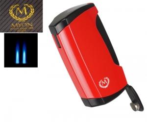 Myon-Paris Zigarrenfeuerzeug Racing Edition 2fach Jet, Bohrer red