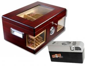 Cigar Oasis EXCEL Wood Wonderful Kristallglas Humidor V-1320 inkl. Lifestyle-Ambiente Feuerzeug und Tastingbogen Cigar Oasis EXCEL