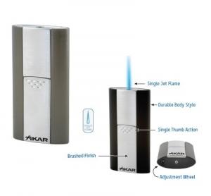 Xikar Flash Feuerzeug Jetflamme gunmetal