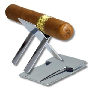 Zigarrenbank Edelstahl, chrom