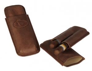 Zigarrenetui weiches Nappaleder Teleskop 2er Corona