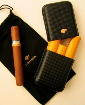 3er Zigarrenetui Cohiba Leder