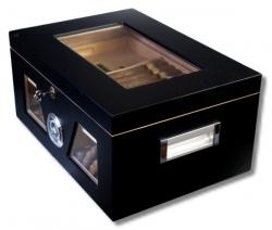 Black Wonderful Kristallglas Humidor V-1320