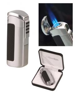 Passatore Zigarren Feuerzeug chrom-satin 3fach Jetflamme mit Zigarrenbohrer