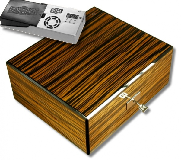 Cigar Oasis Howard Miller Humidor Ebony V-570
